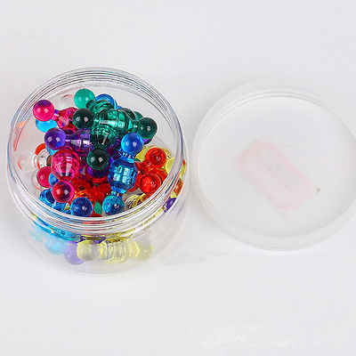 ร้อนแฟชั่นขนาดเล็ก PUSH Pins น่ารักตู้เย็นแม่เหล็กสูงเกรดสารพันสีแม่เหล็ก