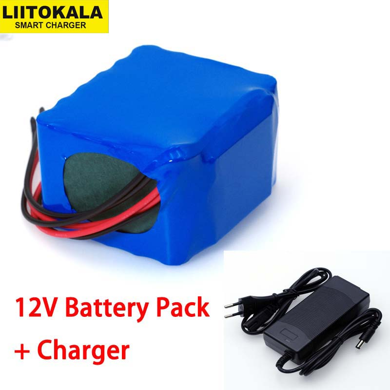 Liitokala 12V 11 1V 20000mAh 18650 lithium battery miner s lamp Discharge 50A 600W xenon lamp