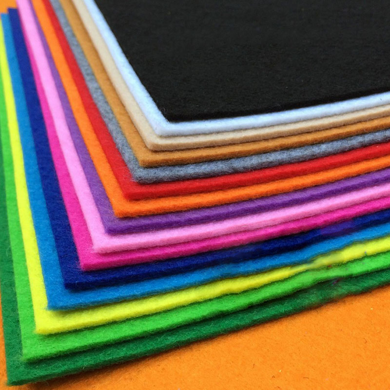 21pcs 3mm Thickness 30x30cm Non Woven Felt Fabric For DIY Sewing Dolls Crafts  Polyester Cloth Materials Bundle Home Accessories