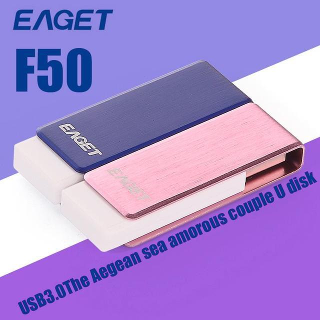 EAGET F50 USB 3.0 100% 64 GB 16 GB 32 GB USB Flash Pen Drive de Memoria del Palillo Impermeable USB3.0 Pendrive Stick Envío gratis