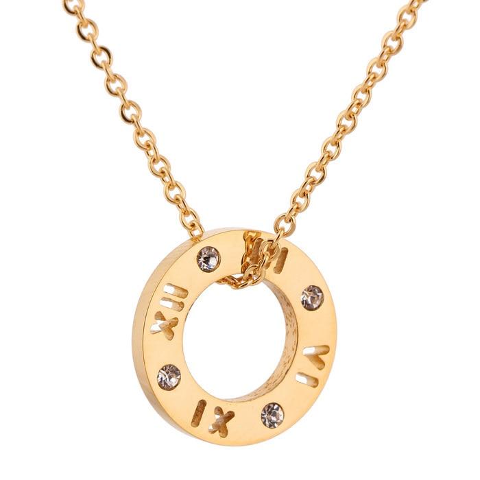 Collar de cristal de acero inoxidable 316L de tres colores de moda - Bisutería - foto 3