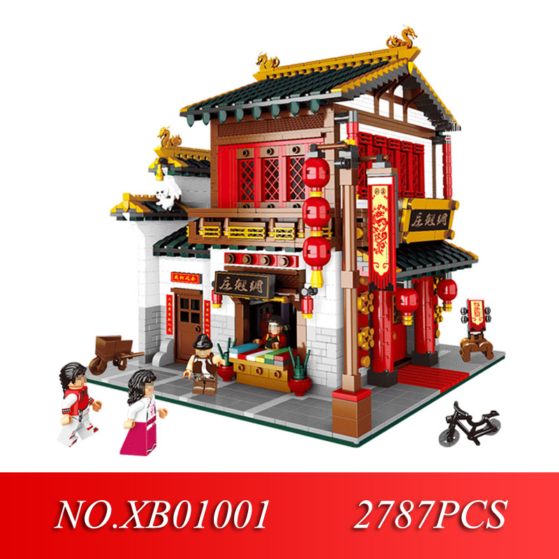 XINGBAO 01001 Creative Chinese Style The Chinese Silk and Satin Store Set Educational Building Blocks Bricks Toys ModelXINGBAO 01001 Creative Chinese Style The Chinese Silk and Satin Store Set Educational Building Blocks Bricks Toys Model