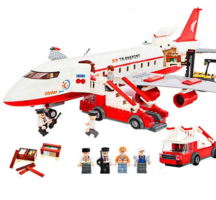 Gudi 8913 856Pcs City Series Air Bus Large Passenger Aircraft Building Blocks Compatible with Legoe AirPlane Toys gudi block city large passenger plane airplane block assembly compatible all brand building blocks educational toys for children