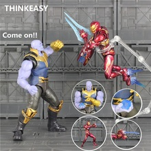 SHFiguarts SHF Avenger Infinity Star War Thanos Space Suit Iron Spider Boy Man Action Figure Toy Gift Super Hero