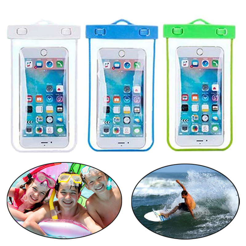 Transparent Waterproof Underwater Swimming Boating Surfing Pouch Dry Bag Case Cover For iPhone 7 Samsung S8 for Xiaomi 6 5 4 etc