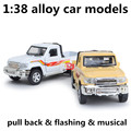 1:38 alloy car models,high simulation pickup,toy vehicles,metal diecasts,pull back & flashing & musical,free shipping