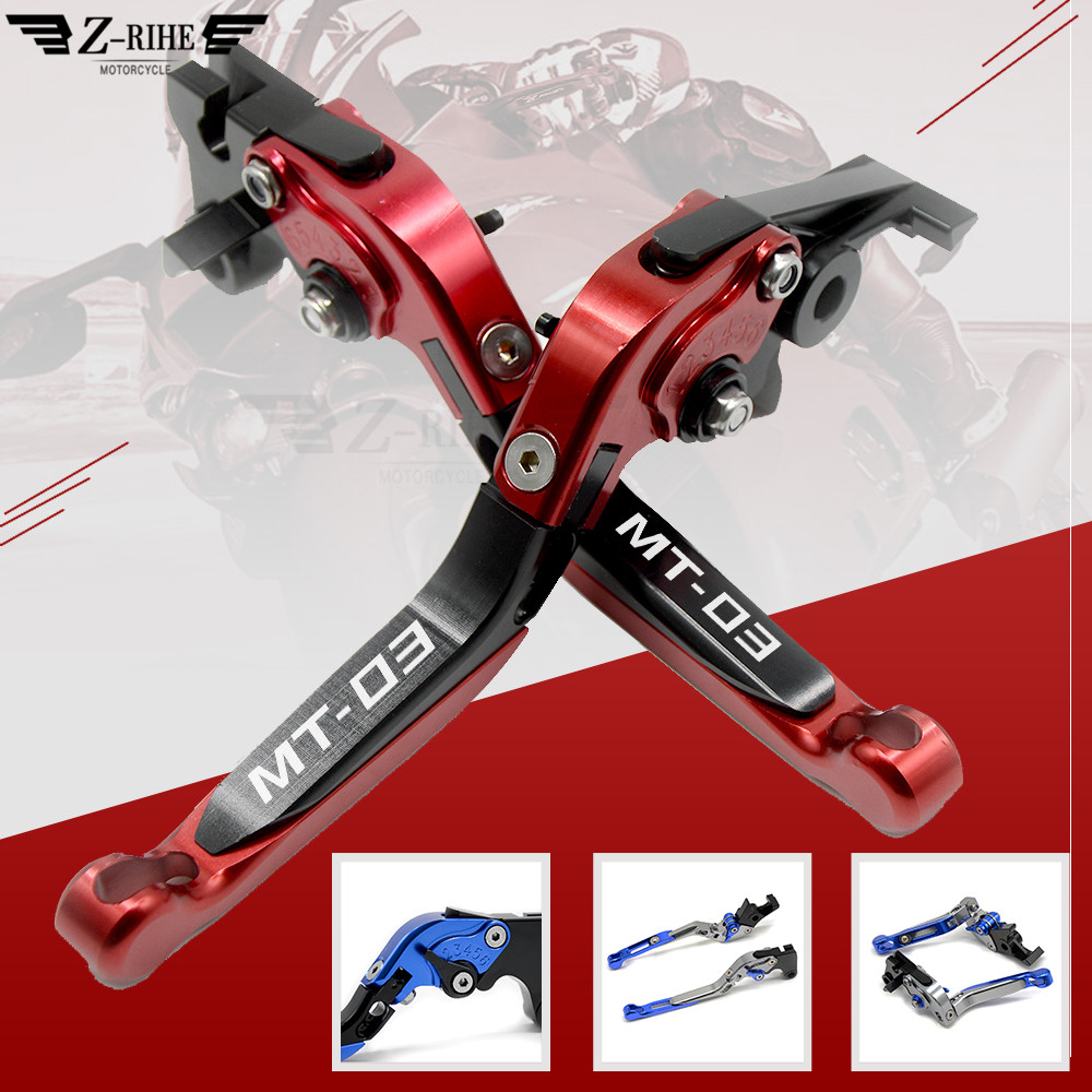 Motorcycle motorbike  Extendable Brake brakes Clutch clutchs  Levers lever For YAMAHAMT-03 MT03 MT3 2015 2016 2017