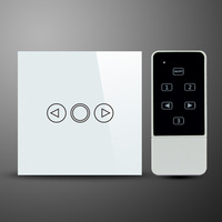 Free Shipping Touch Remote Dimmer Switch 220V Single Gang UK Style Wireless Remote Switch With Touch