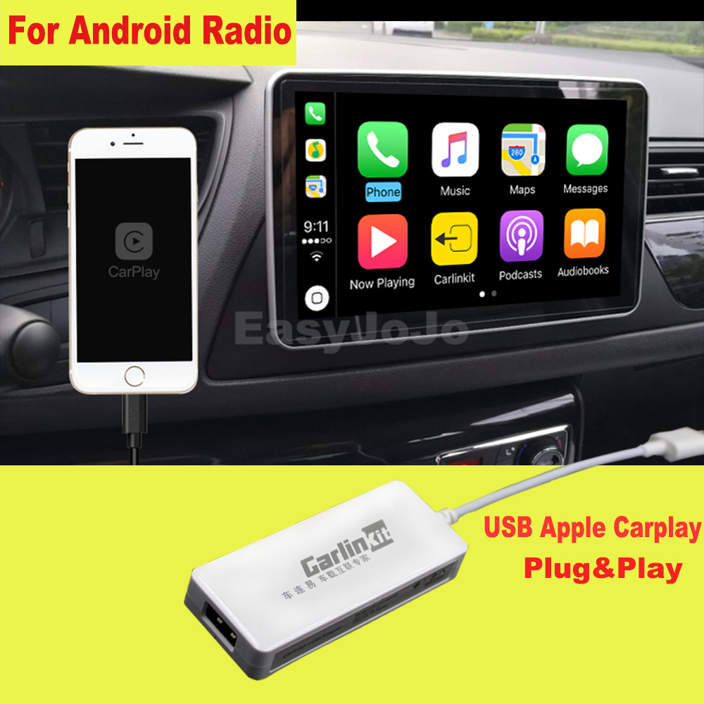 Stecker und Spielen Smart Link USB Apple CarPlay Dongle für Android Navigation Player system Stick mit Android Auto