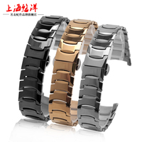 Watch Accessories Tungsten Steel 23*16mm 12*8mm Butterfly Buckle Watch Bracelets for Rado 6037 Watch Bands Man Woman +Free Tools