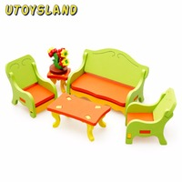 UTOYSLAND Wooden 3D Puzzle Model Kids Toys Living Room Tables Chairs Board Game Educational Toy For
