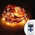 RF sem fio Controle Dimmer 10 M 33 Pés 100 LED String Luzes Estreladas