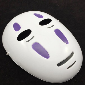 Image 4 - Kids / Adults Anime Movie Spirited Away No Face Man Cosplay Costume Full Set Halloween Costume Robe + Gloves + Black/Purple Mask