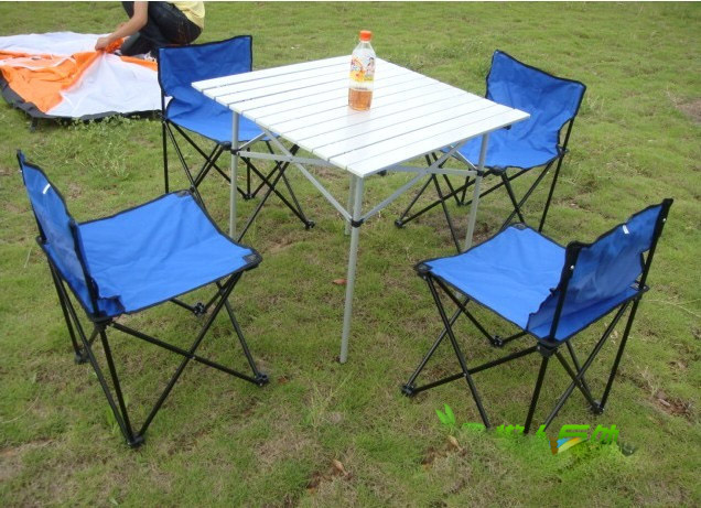 Folding Table And Chair Set Organza Wedding Sashes A Combination Of Aluminum Tables Chairs Camping Barbecue