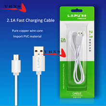 2.1A Fast Charge &  Sync Data Cable Mobile Phone Micro USB Charger Cable For Samsung Galaxy Xiaomi Huawei Meizu LG MP4 PAD Oppo