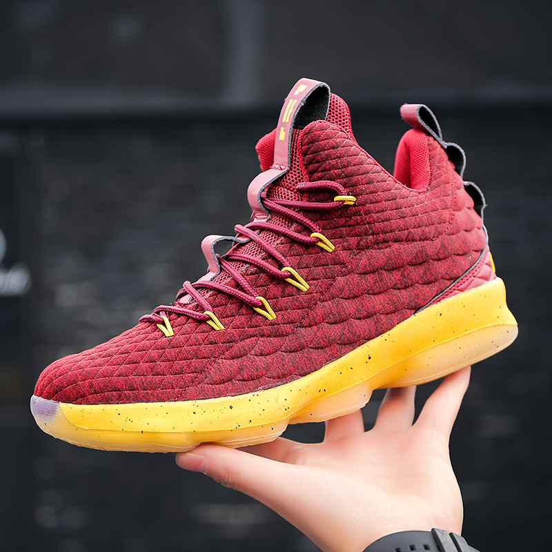 Basketball-Shoes Cushioning High-Top Original Hot For Woman Sneakers Shockproof Couple
