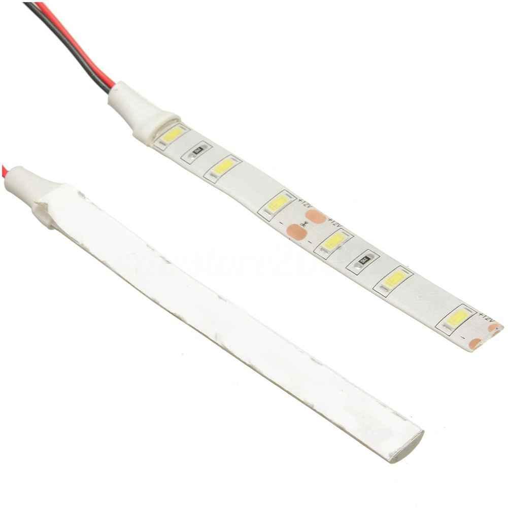2x10 см дневные ходовые огни 12V Белый 6 светодиодный 5630 SMD светодиодные полосы света для автомобиля моторная лодка Ван Водонепроницаемый