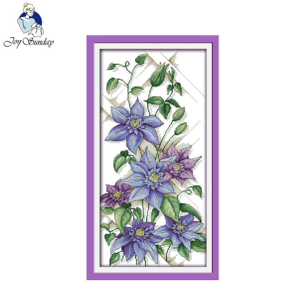 Joy sunday floral style purple blossoms cheap cross stitch patterns joy sunday floral style purple blossoms cheap cross stitch patterns kits for needlepoint online stores in package from home garden on aliexpress izmirmasajfo