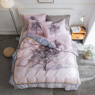 4pcs Fashion High Quality Home Printed Cotton Bedding Sets Bed Set Duvet Cover Bed Sheet Cover Set4pcs Fashion High Quality Home Printed Cotton Bedding Sets Bed Set Duvet Cover Bed Sheet Cover Set