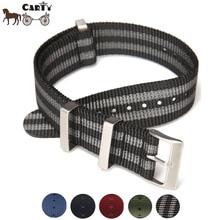 High Quality Canvas Nylon Watch Strap Bracelet 20 mm 22 mm 304L Steel Buckle Sport Watchband Watch Accessories for Men
