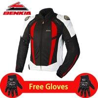 BENKIA летняя мотоциклетная куртка мужская гоночная одежда весна осень сетка дышащая езда на тело Броня Защитная Мото куртка JW68