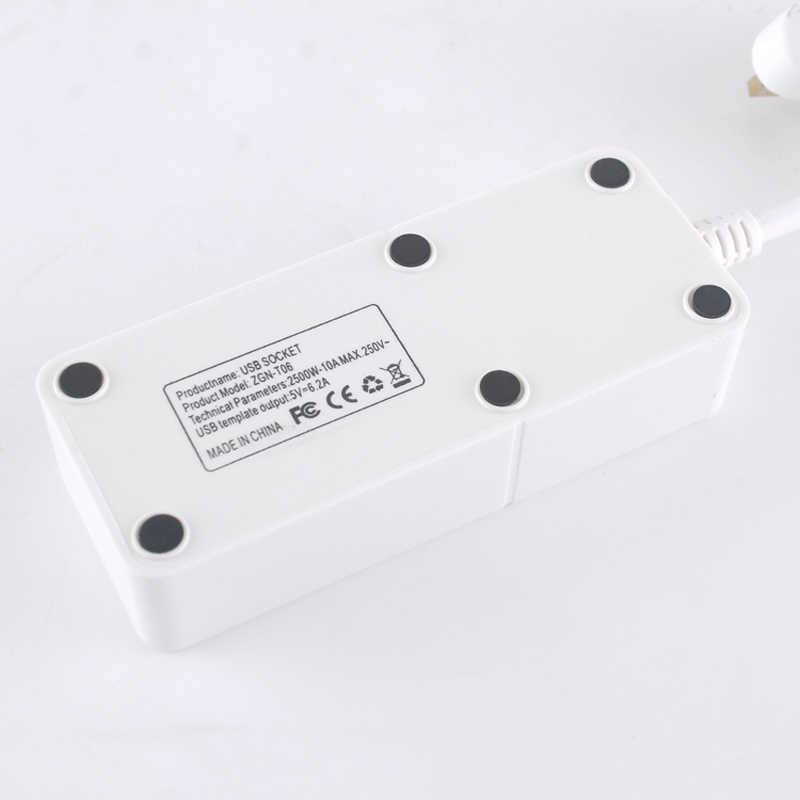 Szybkie ładowanie 4 porty gniazdo ścienne uniwersalny listwa zasilająca z USB przenośna ładowarka podróżna przedłużacz kabla ue/UK wtyczka