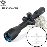 FFP 4.5 18X44 SFIR Side Parallax Glass Etched Reticle Lock Reset Scope First Focal Plane Optical Riflescopes Hunting scope