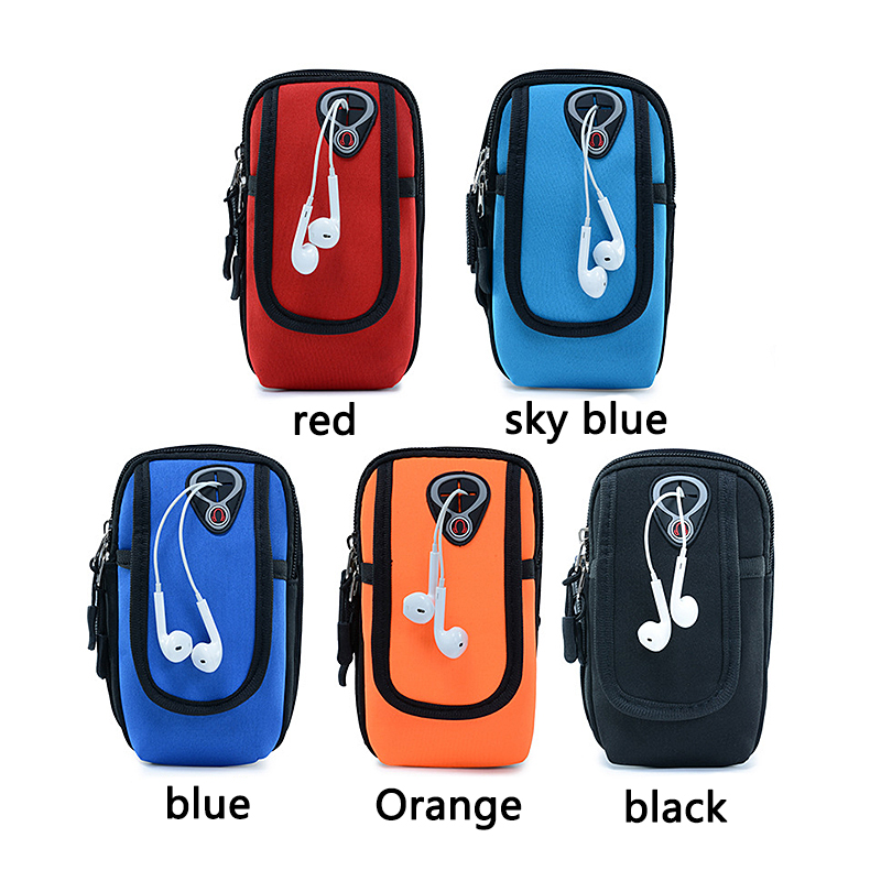 Sport Armband Running Flip Bag Case For Iphone Samsung Universal 5.5inch Smartphone Earphone Holes Keys Arm Bags Pouch Mobile Phone Accessories