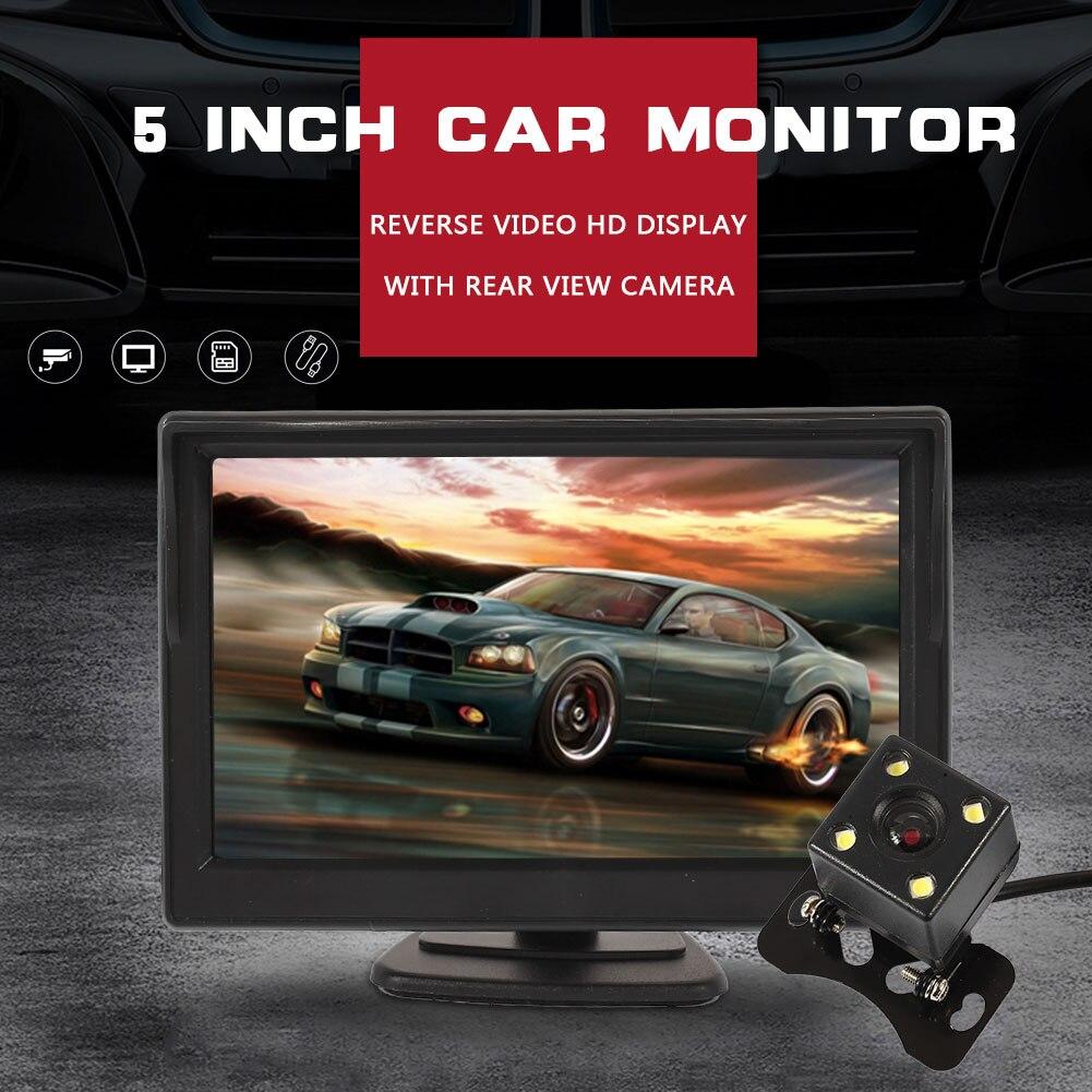 С камерой заднего вида Автомобильный Монитор парковки автомобиля резервный дисплей парковки Реверсивный резервный монитор
