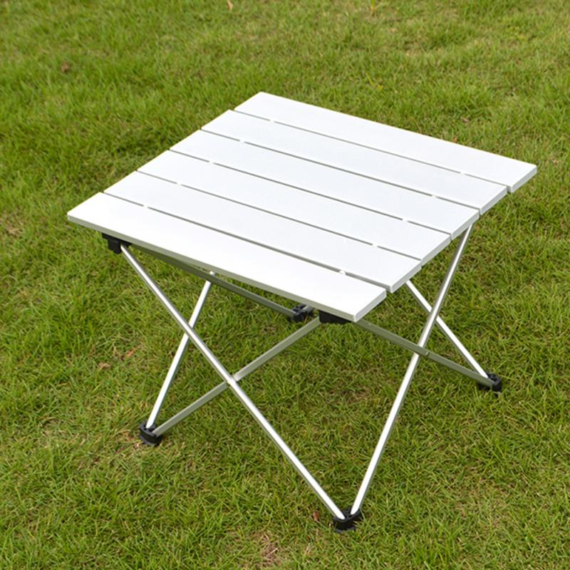 56 *X40.5 X 40CM Outdoor Aluminum Folding Table Portable Roll Up Table Folding Camping Outdoor Indoor Picnic Bag Table