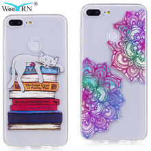 Lovely cute Unicorn Cat Flowers TPU Case Huawei Honor 9 lite Phone Silicone Soft Cover for