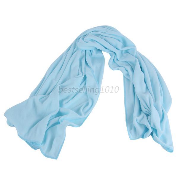70*140 см большое полотенце для ванны быстросохнущее микрофибра Спорт Пляж плавать путешествия Кемпинг мягкое полотенце s - Цвет: light blue