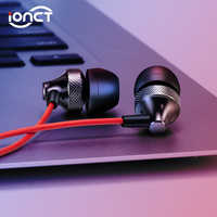 iONCT Wired Sports Earphone With 3.5mm In-Ear Stereo Earbuds Headset For Computer Cell Phone MP3 Music Metal Headphone