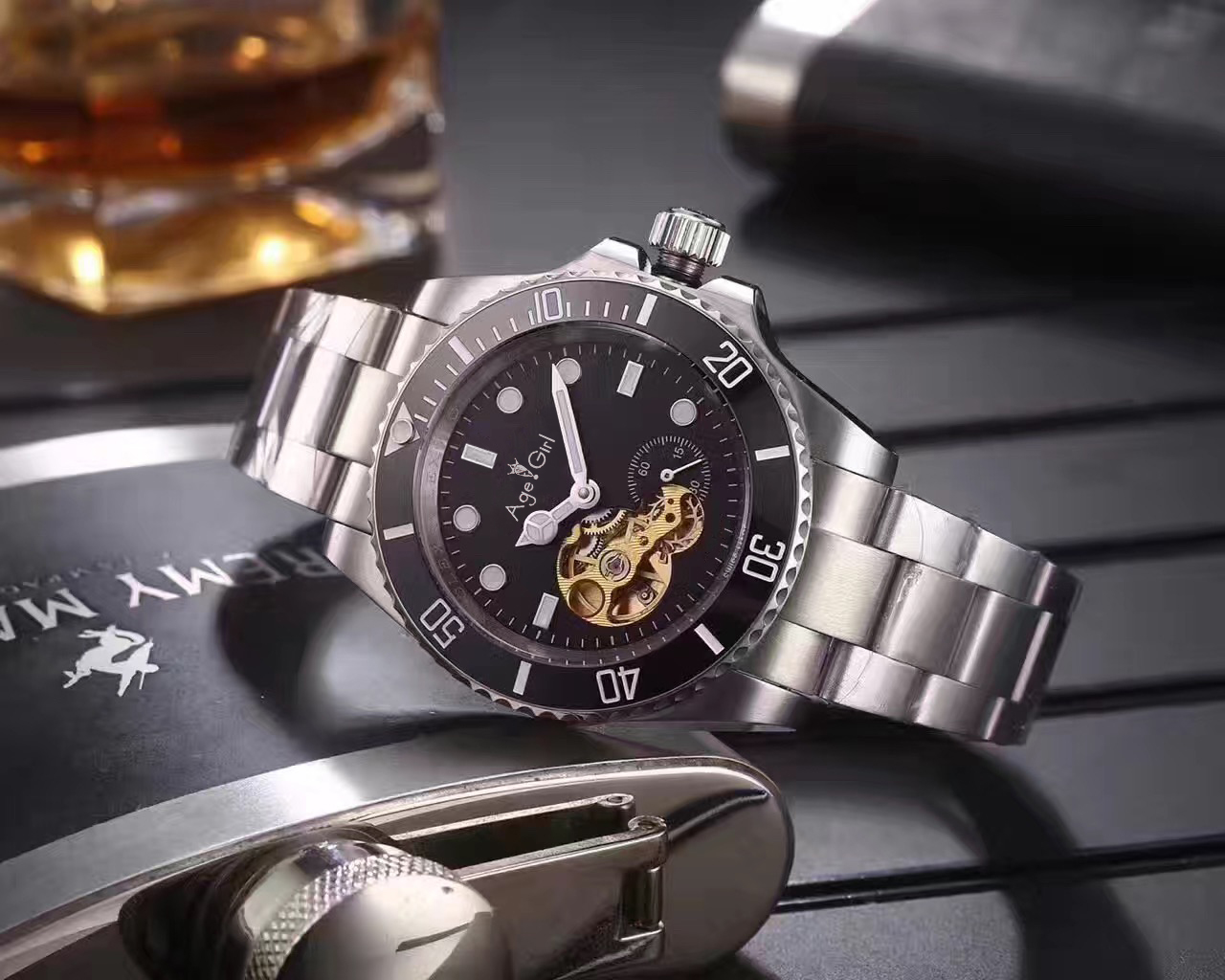 Luxury Brand New Men Automatic Mechanical Stainless Steel Ceramic Sapphire Watch Waterproof Tourbillion Skeleton Glass Back AAA+Luxury Brand New Men Automatic Mechanical Stainless Steel Ceramic Sapphire Watch Waterproof Tourbillion Skeleton Glass Back AAA+