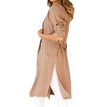 Office Lady – Work Wear –Elegant Women –Open Stitch – Casual – Pocket Long Trench – Coat – Cardigan – Plus Size-