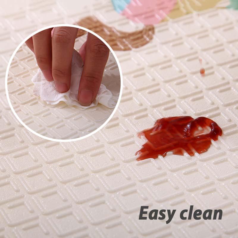 Infantile brillant pliable bébé tapis de jeu pliant ramper Pad XPE bébé chambre tapis enfants tapis de sol 200*150 cm tapis de jeu pour les nourrissons - 6