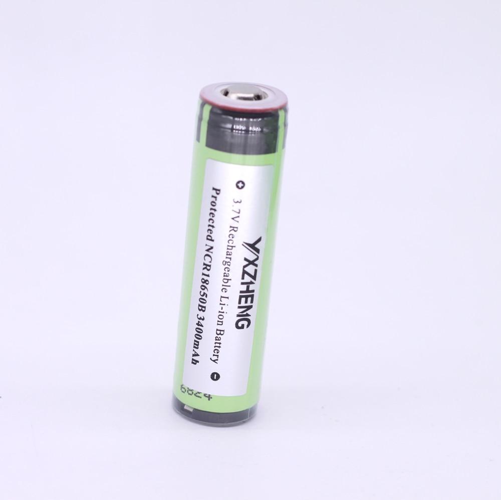 NCR18650B protected <font><b>18650</b></font> batterie 3.7v <font><b>3400</b></font> <font><b>mAh</b></font> flat top li-ion rechargeable <font><b>battery</b></font> flashlight torch