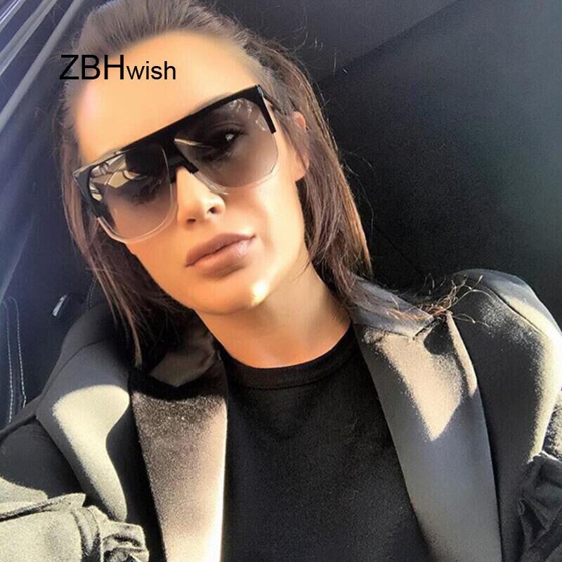 Mode carré lunettes de soleil femmes marque de luxe grandes lunettes de soleil noires Femme miroir nuances dames Lunette Femme Oculos