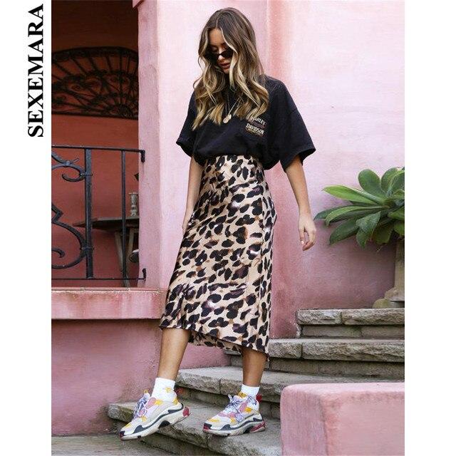 421f4517a5 BOOFEENAA Leopard Print High Waist Midi Pencil Skirt Fashion Streetwear  Holiday Style Sexy Bodycon Skirts Womens C55-AA56
