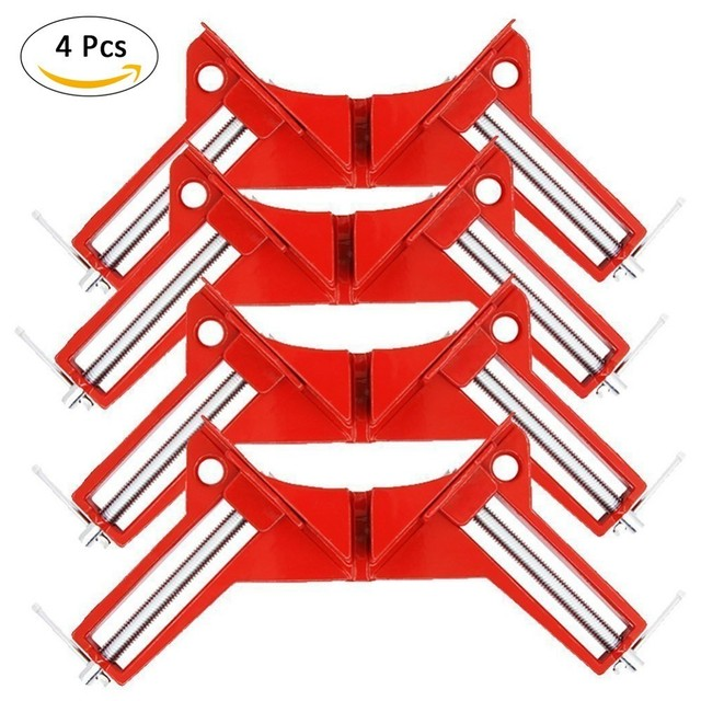 4PCS Right Angle Degree Corner Capacity Clamp DIY Glass Aquarium Quick  Fixing Picture Frame Woodworking Photo Frame Clip -in Clamps from Home