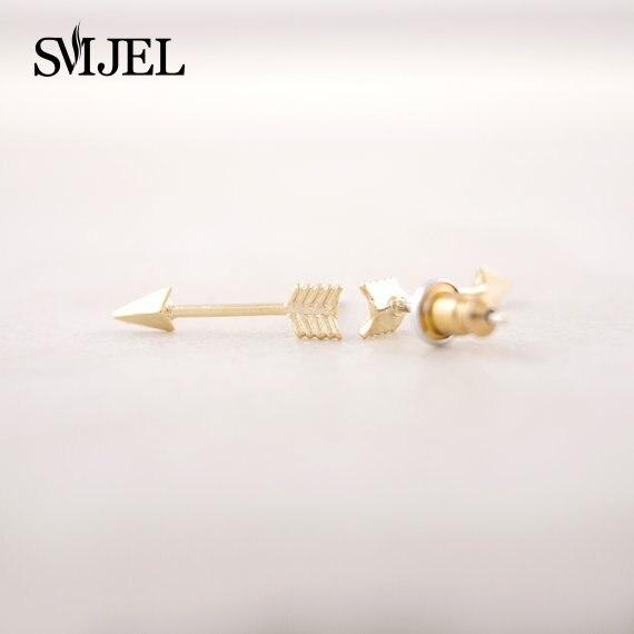 SMJEL Simple Arrow Stud Earrings for Women Punk Unique One Direction Earring Men Pendients Wholesale Teen Gifts 10pcs-S001