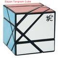 2016 Nova Tangram Dayan Cubo Preto/Branco/Stickerless/Roxo Transparente (unstickered) Cubo Mágico Enigma Educacional Toy torção