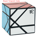 2016 Nueva Tangram Dayan Cubo Negro/Blanco/Stickerless/Púrpura Transparente (unstickered) Cubo Mágico Rompecabezas Educativos giro Juguete