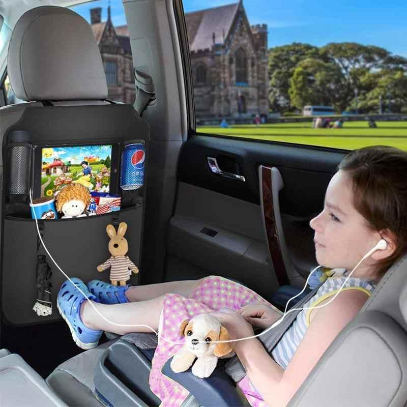 Kursi Belakang Pelindung Tahan Air Mobil Di Belakang Kursi Organizer Besar Kursi Belakang Pelindung, dudukan Tablet untuk Anak Anak dengan Allo