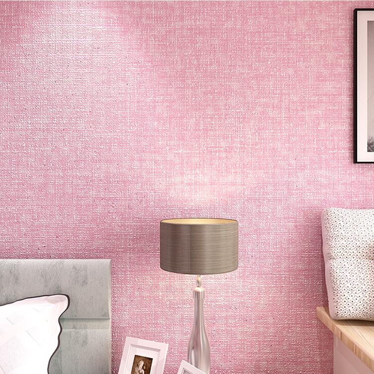 Simple Modern Textured Wallpaper For Walls Decor Cozy Pink Grey Solid Color Home Wall Paper Rolls Living Room Bedroom In Wallpapers From