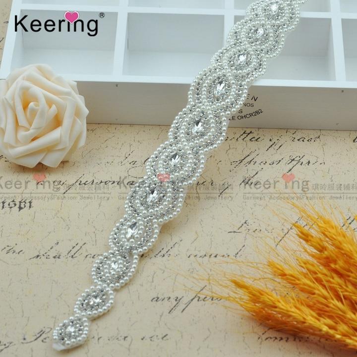 52 * 4 cm apliques con cuentas de diamantes de imitación de perlas - Artes, artesanía y costura