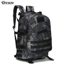 40L 3D Спорт на открытом воздухе Военная Униформа Тактический Восхождение Альпинизм рюкзак Кемпинг пеший Туризм походный рюкзак дорожная сумка