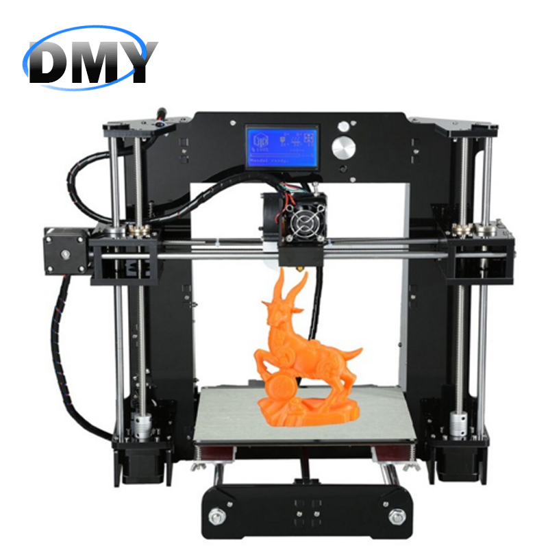 A6 Upgraded Version 3d-printer diy Reprap Prusa i3 3D Printer Kit DIY Aluminium Hotbed &1 Roll ABS Filament & SD Card & LCD