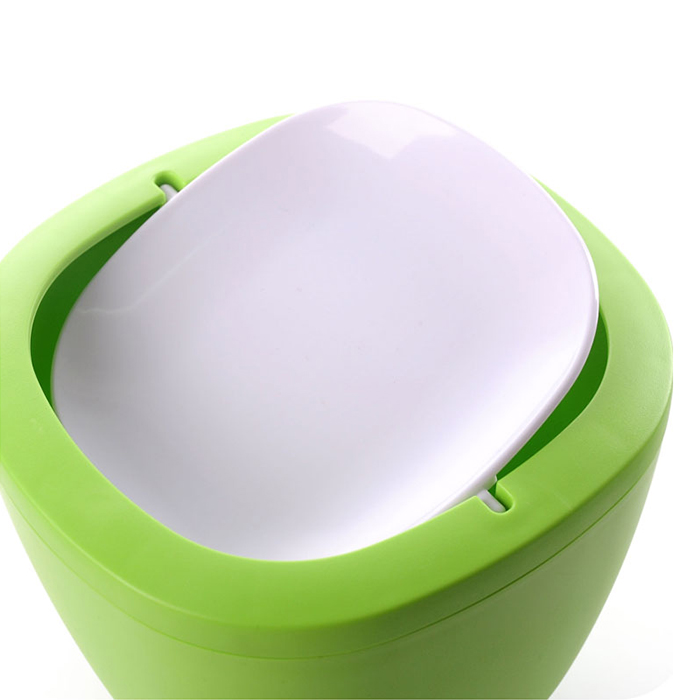 Removable type Mini Desktop swing top trash can Kitchen Bedroom Home Waste Garbage Bin Green