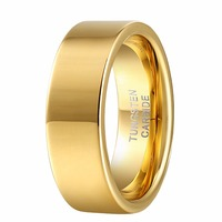 2015 Hot Sale Classic Wedding Engagement Rings For Men Women Lover S 8mm 18K Gold Plated